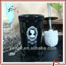 black bathroom accessories ceramic toiletbrush holder