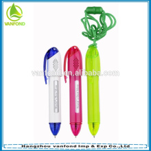 Plastic message promotional lanyard pen customized logo