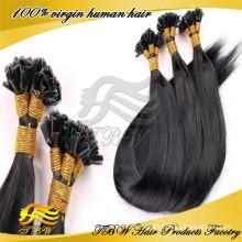 2015 en gros top qualité 100% brésilien remy extension de cheveux humains u pointe des cheveux