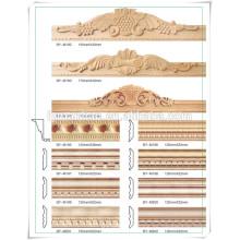 China proveedor de marco de puerta de madera de pino moldeado / marco de imagen de pino moldeado / marco de cama de madera de pino
