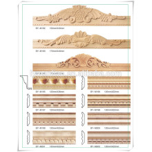 Китай поставщик соснового дерева дверной рамы молдинга / сосна фоторамка молдинга / сосна рама