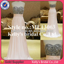 ME13063 beading body and chiffon skirt gown