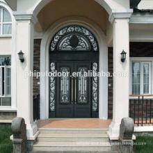 Factory competetive price iron main entrance doors grill design