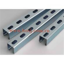 Soporte de ángulo ranurado galvanizado para rodillo de soporte de pared que forma la máquina de producción Tailandia