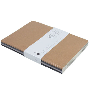 Andstal Simple Thread-bound A5 Hand Account Journal Notebook Cowhide Cover Spiral Notebook Office Supplies