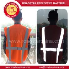 Washable high visible reflective safety vest