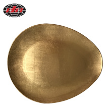 Gold Rain DropPlastic Charger Plate