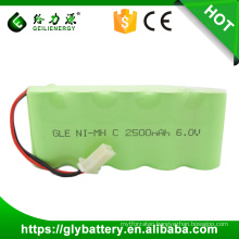 Geilienergy C Size 6V Ni-MH 2500mah Rechargeable Battery Pack For Power Tool
