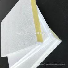 Panneau acoustique de tuile de plafond de laine de verre de toit acoustique