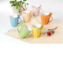 Taza de calabaza de cerámica 10oz con cuchara para BS12040