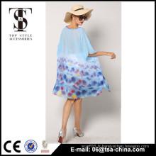 Vente en gros robe en mousseline de soie mousseline