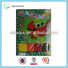 Mosaic EVA foam sprinkle kit as toy for children