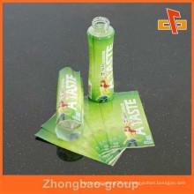Shrink Wrap Sleeve Etiqueta de encargo para el empaquetado de la botella de agua