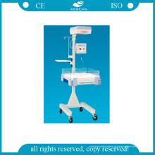 Incubadora infantil hospitalar com unidade de fototerapia LED AG-Irw002A