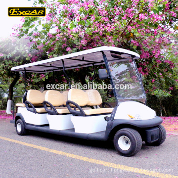 EXCAR 8 Seater Electrical Golf Cart Italy Graziano Axle 48V golf car