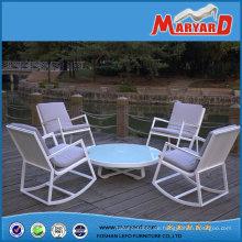 Großhandel Freizeit Patio-Terrasse Möbel Polywood Garten Schaukelstuhl und runder Tisch