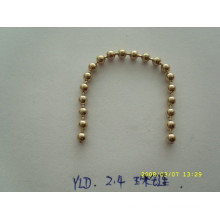Silver /gold high quality metal chain and wholesale handbag chain with custom size and colour metal ball chain