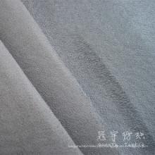 Esponja de veludo poliéster pilha curta lig tecido