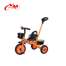 Los nuevos modelos del triciclo del bebé de la fuente directa de la fábrica de China con la barra de empuje / CE pasaron empujan a lo largo del triciclo del triciclo / del niño del juguete para 3 años