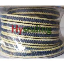 ПТФЭ-графит с плетеной упаковкой из арамидного волокна