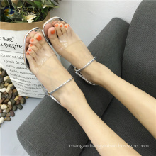 Crystal slippers jelly shoes nude indian girls picture sandals shoes women 2017