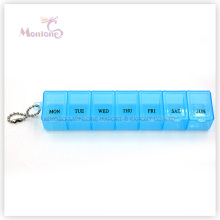 Boîte à pilules 7 grilles, boîte à pilules 1 semaine, boîte à pilules en plastique
