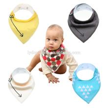 Algodão macio bebê bandana baba babadores impressos técnicas para bebés bib baby