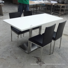 mesa y mesas de centro de la barra de la resina de la superficie sólida del poliéster y del acrílico diseño de los UAE