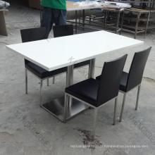 table et tables basses de barre de résine de surface solide de polyester et d'acrylique Conception de UAE