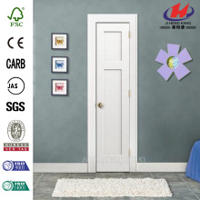 Molded Composite Primed White Smooth 3-Panel Slab Door