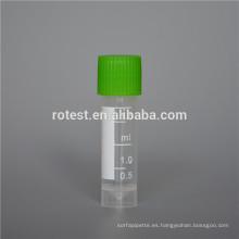 Esterilización desechable graduada de crio tubo de ensayo