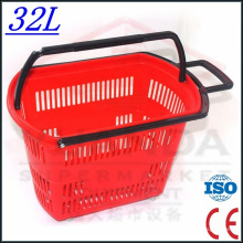 Plastic Trolley Baskets with Wheels From Factory Wholesale
