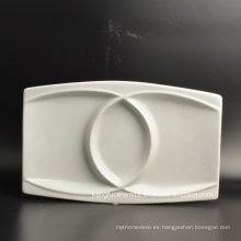 Placa de cena de la porcelana de la placa del uso del hotel
