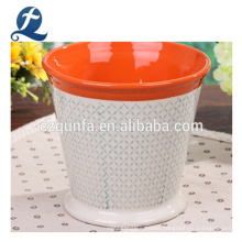 Fashion Indoor Outdoor Patterned Ventilate Ceramic Flowerpot