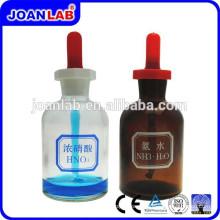 JOAN Lab 30ML Garrafa de descarte de vidro com materiais de laboratório de borracha de látex e laboratório