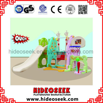 Colorful Indoor Plastic Toy with Football Hoop