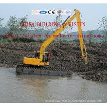 Excavador del dragado del agua, excavador anfibio, excavador flotante, excavador del humedal