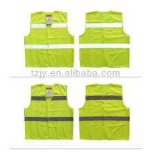 yellow high visibility no sleeve reflective shirt
