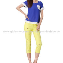Ladies' Fashionable Candy Color Pants, Customized Designs Accepted
