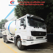 HOWO 10m3 concrete mixer truck, cement mixer truck, with 6x4 mixer truck for hot sale