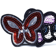 Wholesale Sew on 3D Design Custom Sequin Applique Embroidery Patches