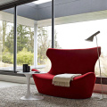 Two Seater Love Papilio Sofa In Red