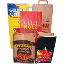 Saco de papel personalizados do carvão vegetal