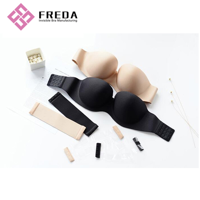 Plus Size Low Back Strapless Bra