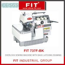 Overlock Sewing Machine with Back Latching Seaming (737f-Bk)