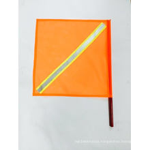 Traffic Warning Flag with with Reflective Tape, 18-Inch by 8-Inch
