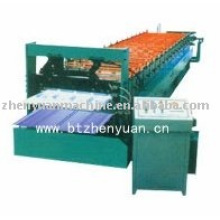 cold double deck roll forming machine,double skin form machine,double purpose rolling machine