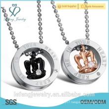 Hot sale jewelry handmade titanium small love necklace necklace couple love