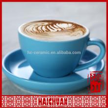Ручная роспись красочных цветов керамическая чашка и блюдце