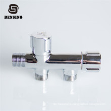 China made sliver Design Toilet brass angle valve with 3 way in toilet